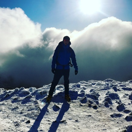 Me on the summit of Snowdon, 6th Jan