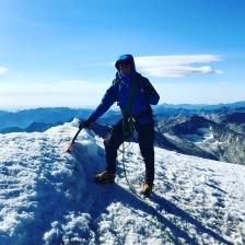 Me on the summit of Weissmies, Swiss Alps