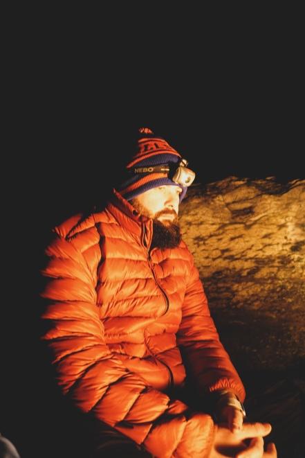 Tom by firelight