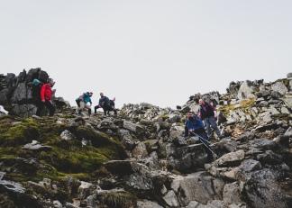 A steep descent